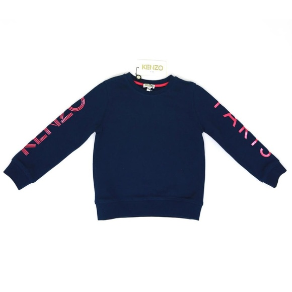 edc5bde7 Kenzo Shirts & Tops | Kids Blue Logo Arm Sweatshirt | Poshmark